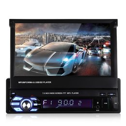 Wholesale Car Mp5 Audio Player - 12V Car Stereo Bluetooth car DVD Multimedia Player MP5 Audio Player Phone USB TF Radio In-Dash 1 DIN 7 inch 5 languages