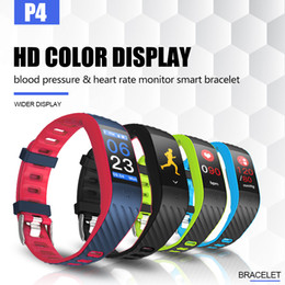 2019 pulseiras coloridas Tela de toque colorido smartband heart rate pressão arterial pulseira melhor do que miband2 para xiaomi smart pulseira android ios p4 50 pcs pulseiras coloridas barato