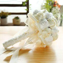 2019 flores artificiais de qualidade Top Quality Estúdio de Casamento Foto Simulação Segurando Flores Bouquets de Casamento estilo Country Bridal Party Presentes flores Artificiais CPA1587 desconto flores artificiais de qualidade