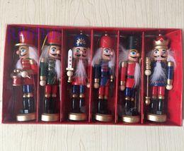 Wholesale Nutcracker Puppet - Best Christmas Gift Nutcracker Puppet Creative Desktop Decoration 12cm Wood Made Christmas Ornaments Drawing Walnuts Soldiers