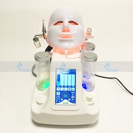 Wholesale Cold Jet - Hydra Dermabrasion Machine 7 in 1 RF BIO Cold Hammer Ultrasound PDT Mask Oxygen Jet Face Lift Hydro Water Microdermabrasion Home Salon Use