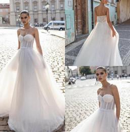 2019 kurze farbe informelle brautkleider Helena Kolan 2019 Brautkleider Sexy Schatz Spitze Brautkleider Saudi Arabisch Sweep Zug Backless Hochzeitskleid nach Maß