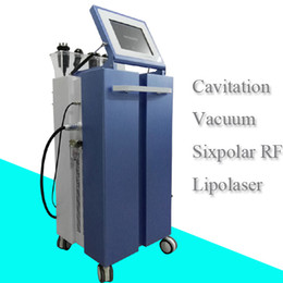 Wholesale 5in1 ultrasonic liposuction machine - 5in1 home use slimming Ultrasonic liposuction cavitation weight loss machine RF vacuum fat reduce cellulite removal device