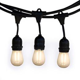 Светодиодные Водонепроницаемые E27 Струнные Светильники осветить10M10 лампы лампы США / ЕС подключить сад Рождественский двор Терраса вечеринка Карнавал Фестиваль от