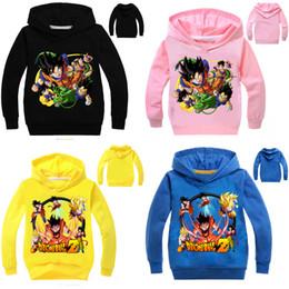 niño camiseta dragón Rebajas 10 muchachos del estilo de las muchachas de Dragon Ball Z hoodie camiseta 2019 de los nuevos niños de dibujos animados de manga larga de B001 niños sudaderas ropa de bebé