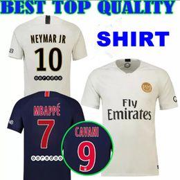 a71358bf9 2018 2019 PSG Soccer Jerseys 7 Mbappe 9 CAVANI Draxler Maillots Paris 11 DI  MARIA DANI ALVES 6 VERRATTI 18 19 home away Football Shirts