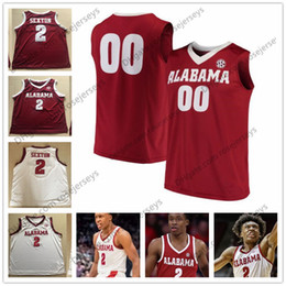 Wholesale Youth Basketball Jerseys - Custom Alabama Crimson Tide College Basketball 2 Collin Sexton red white Personalized Stitched Any Name Number Men Youth Women Jerseys S-4XL