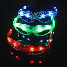 2019 рождественские солнечные очки Человек-паук солнцезащитные очки дети рождественские подарки светящиеся очки 9 из светодиодов светящиеся прохладный мигающий свет игрушки очки партия пользу CCA10591 300 шт. дешево рождественские солнечные очки