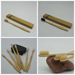 Bamboo Зубная щетка Bamboo уголь Зубная щетка Мягкие нейлоновые Capitellum Bamboo Зубные щетки для гостиничного оборудования для ванных комнат GGA973 supplier hotel supplies от Поставщики гостиничные принадлежности