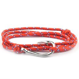 2018 Fashion Fish Hook Bracelet Rope Bracelets Wrap Hook Unisex Women Men Bracelet LXH от