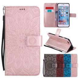 Flip étuis en cuir pour iPhone Xs XsMax Xr X 8 7 6 Plus cas Coque Mandala Flower Wallet Cover Stand Cas de téléphone ? partir de fabricateur