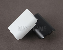 Wholesale xbox wireless battery - Black & White Battery Pack Cover Shell Shield Case Kit for XBOX360   Xbox 360 Wireless Controller Replacement parts