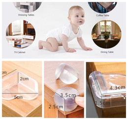 Mesas de canto on-line-Table Desk Corner Edge Guard Cushion Baby Safety Protector Safety Corner Protector Baby Table Desk Edge Protection KKA5714