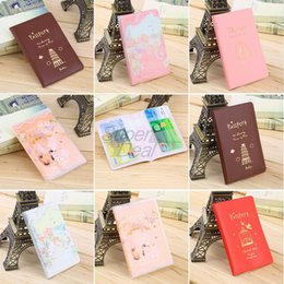 Wholesale Plastic Document Holders - 2017 PVC Passport Holder Cover Identity ID Credit Card Cover Bags Document Folder Travel Passport Bags Case Free Shipping