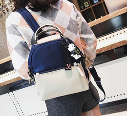Ladies fashion casual bag. Women s Bags. College style. Leisure bag. PU+Oxford  backpack. Handbag. Cross Body. Shoulder Bags.Totes. AF242 2be820d608544