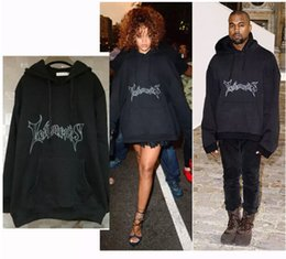 Wholesale Gd Hoodie - New GD etements Kanye West Hoodies Men Women Oversize Letters Hooded Sweatshirts Long Sleeved Tops