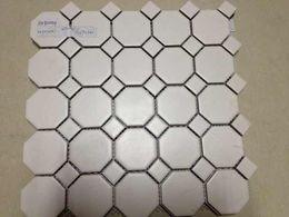 Wholesale Porcelain Tile Wall - Wholesale-White porcelain mosaic tile for bathroom shower wall floor,Kitchen backsplash tiles,Toliet decor,home building material,LSTCBJ02