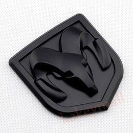 Wholesale Rams Head - Chrome 3D Metal Decal Sticker Ram Head Badge Logo Emblem For Dodge Accessories