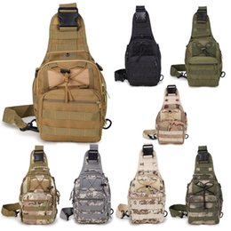 Wholesale Shoulder Pack Tactical - Military Tactical Backpack Shoulder Bag Sling Chest Pack For Camping Travel Outdoor Sport Hiking Free DHL G580F