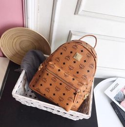 Wholesale back packing - Genuine Leather High Quality 3 size 2018 Luxury Brand men women's Backpack famous Backpack Designer lady backpacks Bags Women Men back pack
