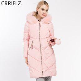 ab45a1d1b6e Женщины пальто куртка теплая женщина куртка Куртка с меховым воротником  съемный зима длинное пальто женщины CRRIFLZ 2017 новая коллекция зима  зимнее пальто ...