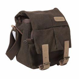 Wholesale Canvas Dslr Camera Shoulder Bag - Caden N1 Single Shoulder Camera Bag Waterproof Canvas Vintage Messenger Shoulder Bag with Zipper Closure for DSLR Camera