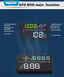 2019 audi geschwindigkeit Auto Styling HUD Geschwindigkeit Warnung Sicherheitssystem Auto Kopf hoch Anzeige für BMW Mercedes Bens Audi mit Fahrzeit Entfernung Richtung günstig audi geschwindigkeit