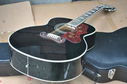 KSG personnalisé 12 cordes guitare électrique acoustique chinois fait jumbo 43 pouces 12 cordes guitare acoustique brillant noir acoustique livraison gratuite ? partir de fabricateur