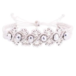 Pulseira de contas de onda on-line-Macrame contas de cobre onda de cristal pulseira da amizade mulher feminina menina moda bohemian boho ajustável pulseira cordão femme