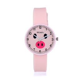 Wholesale Fresh Arts - Korean version of the new cute cartoon piggy design watch art fresh Meng Da student lovers table