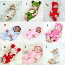 Wholesale Christmas Presents For Kids - Christmas Presents Children Dolls 28 cm Silicone Simulation Reborn Baby Dolly Gift Girls Reborn Toys for Kids Playmate Preschool Education