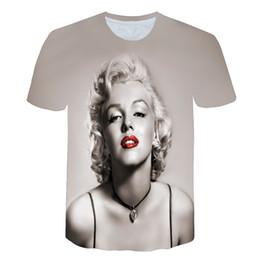 e683069be28b T-shirt 2018 estate nuova moda Attrice sexy Marilyn Monroe Stampa maglietta  3d Maschio donna Casual Maglietta cool camicia di marilyn in vendita