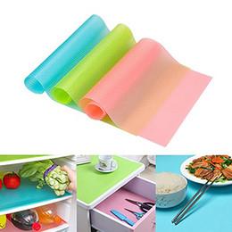 Wholesale Waterproof Kitchen Mat - e Refrigerator Freezer Mat Fridge Anti-fouling Anti Frost Waterproof Pad Kitchen Table Wardrobe Drawer Mats 3 Colors With Free DHL
