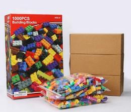 blocos de construção do castelo de brinquedo de plástico Desconto 5 conjunto modelos 1000 pcs diy blocos de construção criativa educação tijolos brinquedos para crianças diy montar blocos de tijolos crianças presentes