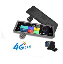Универсальный 10-дюймовый IPS сенсорный экран зеркало заднего вида автомобиля DVR камеры 4G Android wifi ADAS GPS навигатор двойной объектив передняя и задняя камера от