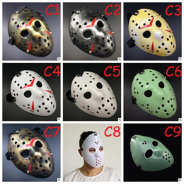 máscara completa de jason Desconto Máscara Full Face Antique Killer Mask Jason vs Sexta-feira 13º Prop Horror Hockey Hockey Traje Cosplay Máscara de Cosplay To657