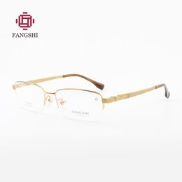 ff770de297db FANGSHI with Original Case Titanium Glasses Men Frame Titanium Eyeglasses  Half Rim Optical Frame Men Fashion Brand Logo  F88002