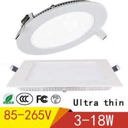 2019 luce naturale del soffitto LED Down Light Plafoniera a LED con driver 3W 4W 6W 9W 12W 15W 18W Pannello LED Light Warm Natural Cold White luce naturale del soffitto economici