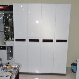 Пвх мебельная пленка онлайн-2m Furniture Renovation Wall Sticker Decorative Film PVC Self Adhesive Wall Paper Waterproof Glossy Kitchen Cabinet Wallpaper