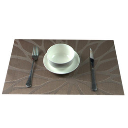 Wholesale Green Kitchen Table - Durable Home PVC Placemat Dining Table Mats Western Bottle Design Bar Mat Kitchen Dining Bowl Plate Pad Table Decoration