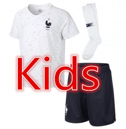 Wholesale beige boys suit - French National Team 2018 World Cup Kids Jersey MBAPPE LLORIS LEMAR PAVARD POGAB VARANE THAUVIN GRIEZMANN GIROUD DEMBELE France Soccer suit