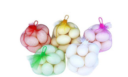Wholesale handles for kitchen doors - Grocery Bag Nylon Mesh Fruit Vegetable Reusable Kitchen Bag Shopping Nut Egg Bag with Portable Handle for Travel Snack Storage