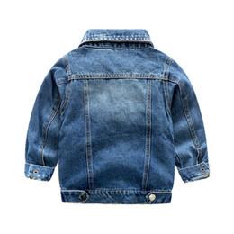 Wholesale jacket jeans kids boy - children boys denim jacket coat kids 100% cotton jeans outerwear 3-8y children clothing tops jackets baby girl casual warm coats