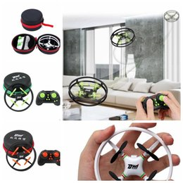 Wholesale Helicopter Case - Mini Drone RC Quadcopter Nano Drones Pocket Drone Case RC Helicopter 2.4GHz Gift for Children Toys RC Quadcopter Drone KKA3783