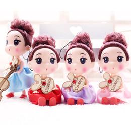 Figuras desnudas online-Versión coreana de 12 cm confusamente figuras de acción horneadas tortas dulces decoradas muñecas lol nude molde muñeca esmalte llave colgante muñecas niños juguetes