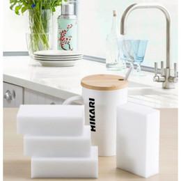 limpiadores de esponja Rebajas 100 unids / lote esponja mágica esponja borrador melamina limpiador de cocina oficina baño limpieza esponja nano 10x6x2 cm