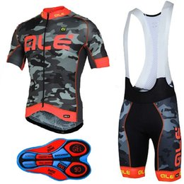 Wholesale Green Cycling Jersey Bibs - 2017 ALE Summer Men Cycling Jersey Short sleeve Breathable Cycling Clothing Mountain Bike Bib Shorts Set Sport Wear Uniforms