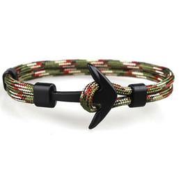 pulseras de cadena para niños Rebajas Diseño popular hecho a mano para hombre y para mujer pulsera de anclaje paracord multicolor pulsera tejida para venta al por mayor 2 piezas