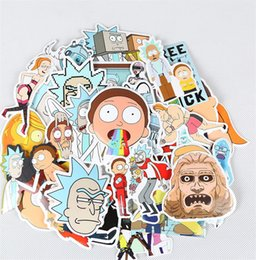 Wholesale Head Guitar - 35Pcs Drama Rick And Morty Stickers Decal For Snowboard Laptop Luggage For Luggage Skateboard Phone Laptop Moto Trunk Guitar Car DIY Sticker