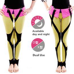 Correzione gamba online-Dual Mode O / X-tipo Gamba Gambe Gambali Leggings Hip O Leg Orthotics Correttore Assistenza Sanitaria Day and Night Use T255
